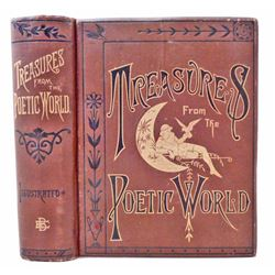 """1883 """"TREASURERS FROM THE POETIC WORLD"""" ILLUSTRATED HARDCOVER BOOK"""