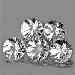 LOT OF 1.86 CTS OF DIAMOND CUT WHITE ZIRCON