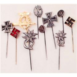 LOT OF 10 GERMAN NAZI STICK PINS