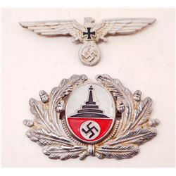 LOT OF 2 GERMAN NAZI  VETERAN HAT BADGES