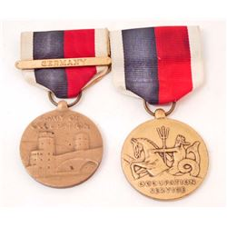 LOT OF 2 GERMAN NAZI OCCUPATION MEDALS