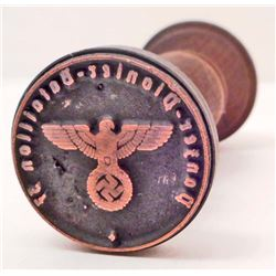 GERMAN NAZI WAFFEN SS POLIZEI- BATALLION WAX SEAL