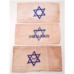 LOT OF 3 HOLOCAUST STAR OF DAVID ARMBANDS