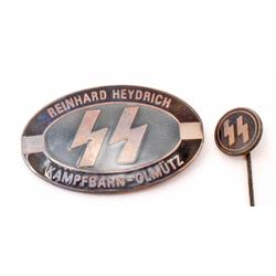 GERMAN NAZI WAFFEN SS REINHARD HEYDRICH BADGE