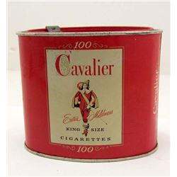 VINTAGE CAVALIER KING SIZE CIGARETTE TOBACCO ADVERTISING TIN