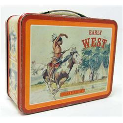 VINTAGE 1982 EARLY WEST INDIAN TERRITORY METAL LUNCH BOX