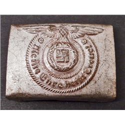 GERMAN NAZI WAFFEN SS SHULTZ STAFFEL ENLISTED MANS BELT BUCKLE