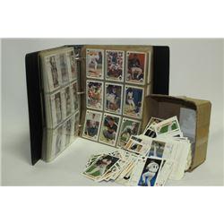 BINDER & BOX OF BASEBALL CARDS