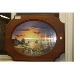 WESTERN SCENE FRAMED PICTURE
