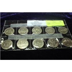 10 UNC CANADIAN DOLLARS 1968-1978