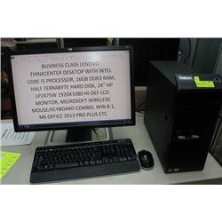 BUSINESS CLASS LENOVO THINKCENTER INTEL i5/16GB