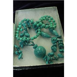 375.15 CTW TURQUOISE AND SILVER NECKLACE