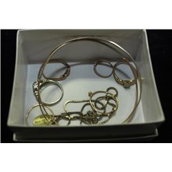 BOX OF ASSORTED GOLD JEWELLRY
