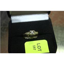 LADIES GOLD/DIAMOND  WEDDING SET
