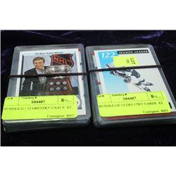 BUNDLE OF 12 GRETZKY CARDS  X2