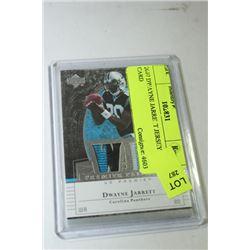 2007 DWAYNE JARRETT JERSEY CARD