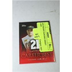 2009 FREDDY SANCHEZ JERSEY CARD