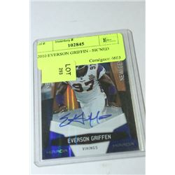 2010 EVERSON GRIFFIN - SIGNED