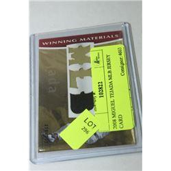 2008 MIGUEL TEJADA MLB JERSEY CARD