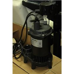 NEW MYERS 1/3HP SUBMERSIBLE SUMP PUMP