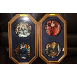 OAK FRAMED GONE WITH THE WIND COLLECTOR PLATES X2