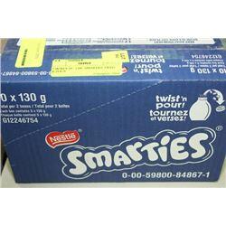 2 BOXES 10 - 130G SMARTIES TWIST & POUR