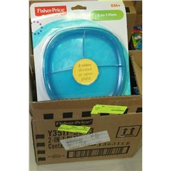 BOX: 4 - 2IN1 BABY/TODDLER FISHER PRICE PLATES