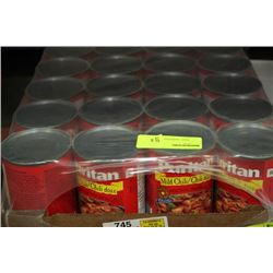 BOX: 24 - 425G PURITAN CANNED MILD CHILI