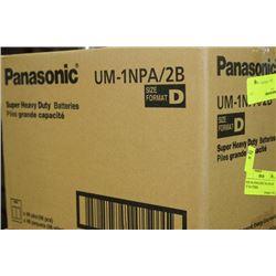 "BOX: 48-4 PANASONIC UM-1NPA/2B ""D"" BATTERIES"