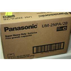 "BOX: 48-4 PANASONIC UM-2NPA/2B ""C"" BATTERIES"