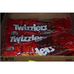 BOX: 24-250G TWIZZLERS STRAWBERRY LICORICE