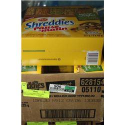 BOX: 6 5-225G POST SHREDDIES MORNING BRKFST SNACKS