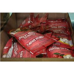 BOX: 48 BAGS OF 25 LOZENGES CHERRY COUGH DROPS