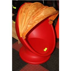 CHILDS EGG CHAIR W CANOPY