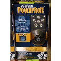 WEISER POWERBOLT TOUCH PAD ELECTRONIC DEADBOLT