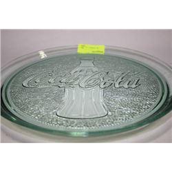 COCA COLA GLASS COLLECTOR PLATE