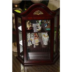 MINI WOOD WALL CURIO CABINET W OCCUPIED JAPAN