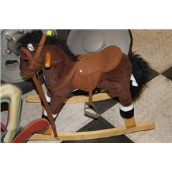 CHILD'S PLUSH ROCKING HORSE