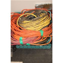 CRATE OF EXTENSION CORDS