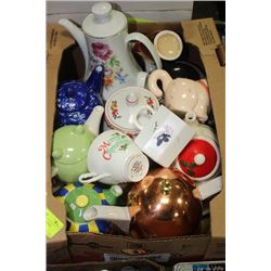 BOX TEAPOTS AND CREAMERS
