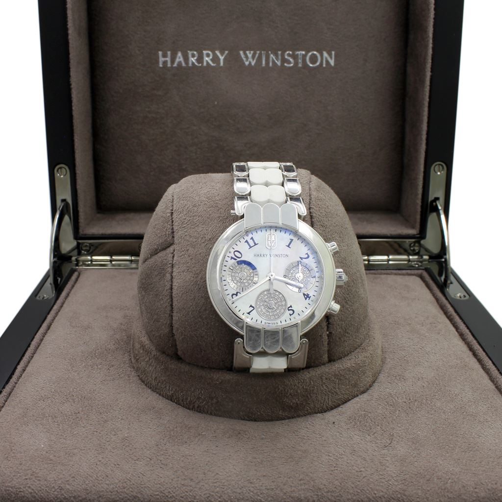 1dff09576a6 Loading zoom · Image 1   Harry Winston 18 K Gold Diamond Watch ...