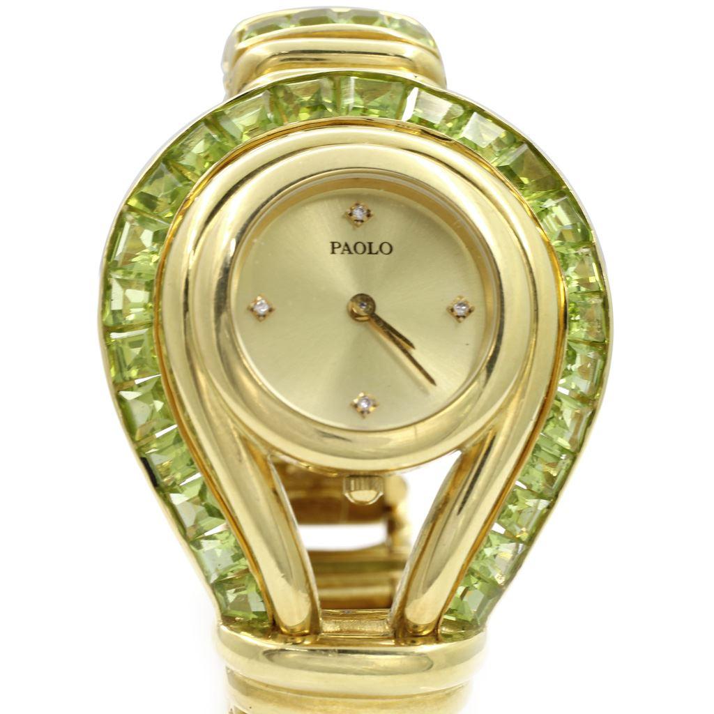 8ad91359324 Paolo Gucci 18Kt Gold   Peridot Watch