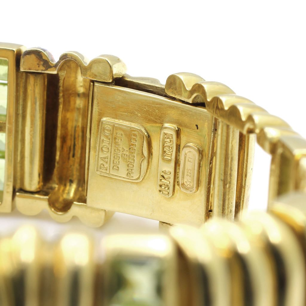 da49f2a0cc5 ... Image 3   Paolo Gucci 18Kt Gold   Peridot Watch ...
