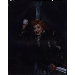 Lucille Ball Color Camera Transparency from Easy To Wed by Clarence Sinclair Bull