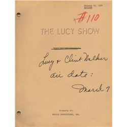 "Original Script for The Lucy Show Episode ""Lucy and Clint Walker"""