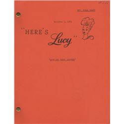"Original Here's Lucy Script for Episode ""Lucy and Carol Burnett"""