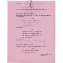 "Original Revised Script Pages for Here's Lucy Episode ""Lucy Meets Lucy"""