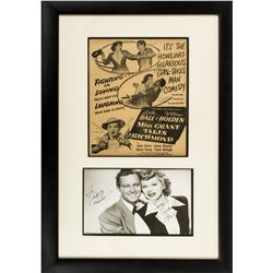 Vintage Lucille Ball Signed Photo with William Holden from Miss Grant Takes Richmond