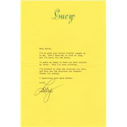 "Lucille Ball Typed Letter Signed on Personal ""Lucy"" Letterhead Stationery"