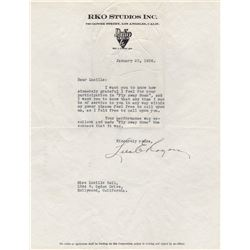 Thank You Letter to Lucille Ball from Head of RKO Drama Dept. Lela Rogers